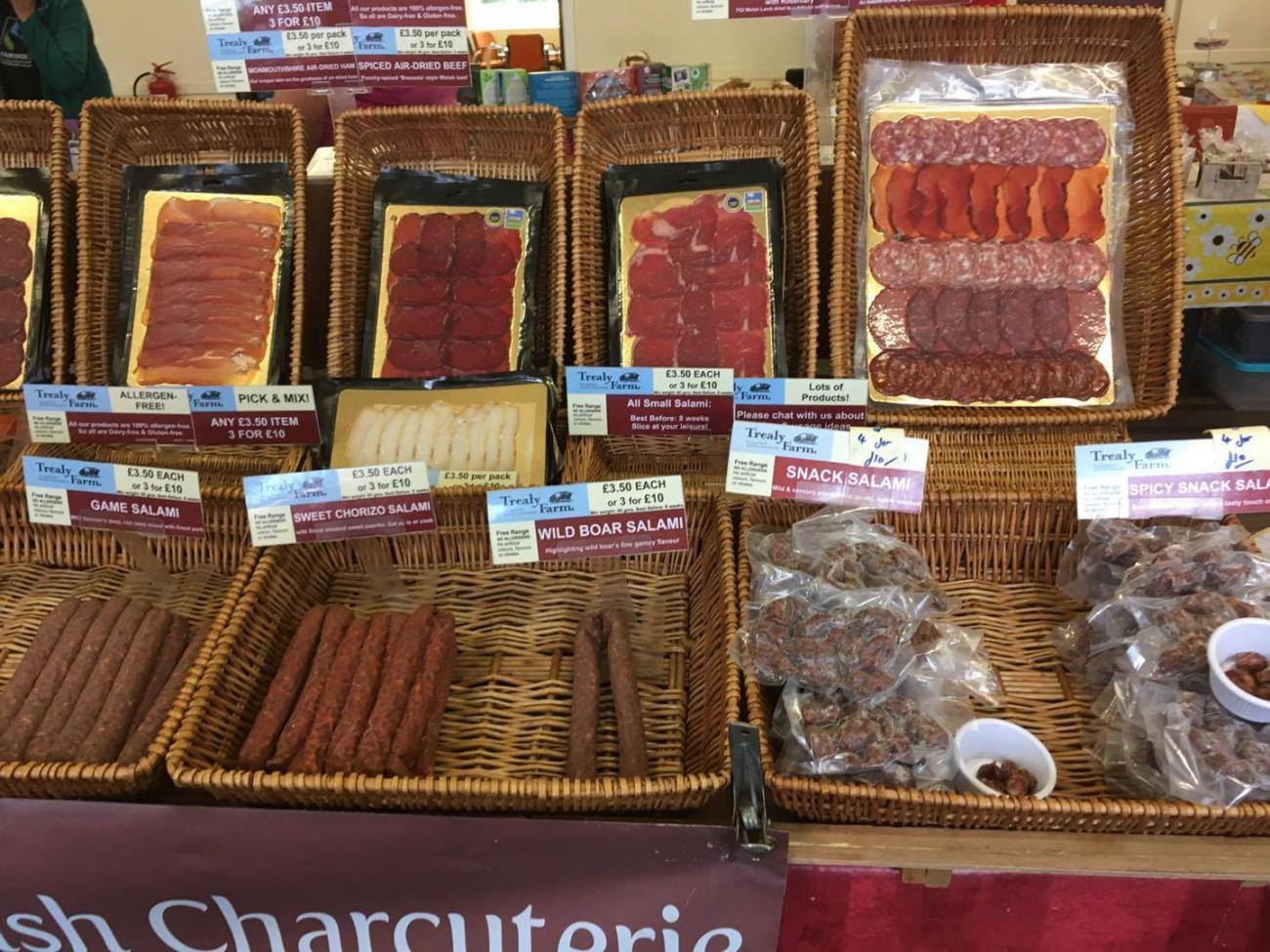 Trealy Farm Charcuterie display