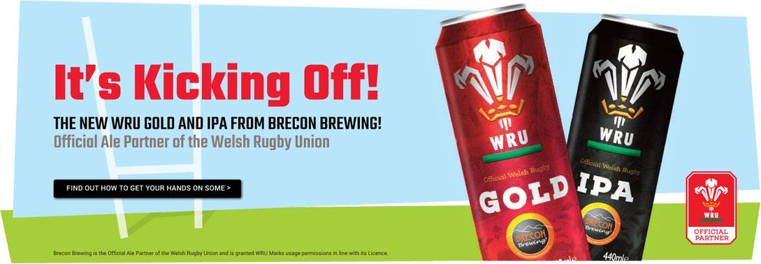 Brecon Brewing WRU Celebration